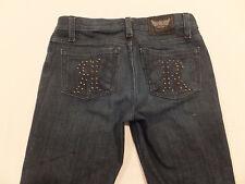 Rock & Republic Berlin Size 25 x 34 1/2 Studs Skinny Stretch Women's Jeans