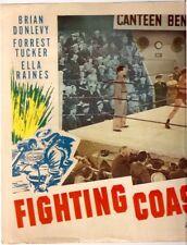 D773 Fighting Coast Guard Lobby Movie Card Forrest Tucker B. Donlevy Ella Raines