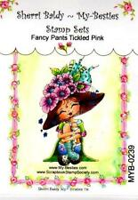 NEW My-Besties Clear cling Rubber Stamp  FANCY PANTS TICKLED PINK free USA ship