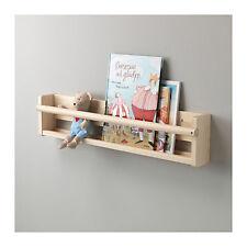 Solid Wood Wall Storage Unit Display Book Shelf Neutral Kids Nursery IKEA FLISAT