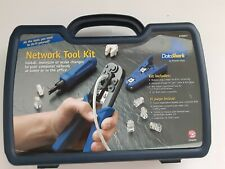 Network Tool Kit for Computer Cables & Phone Lines in Plastic Case