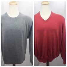 Brooks Brothers Men XL light sweaters lot of 2 gray salmon wool silk cashmere c6
