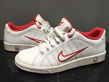 NIKE Court Tradition Trainers Shoes White Red  *UK Size 7 / EU 41 315134 Tennis
