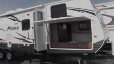 2014 Used Palomino Puma Frnt Bkhs Trav Trlr RV 30FBSS Outside Kitchen IN MONTANA