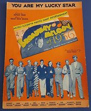 Vintage Sheet Music You Are My Lucky Star MGM Broadway Melody of 1936