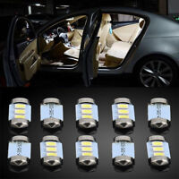 10x 36MM 5050 SMD 3LED Festoon Dome Car Auto Light Interior Bulb 12V White Color