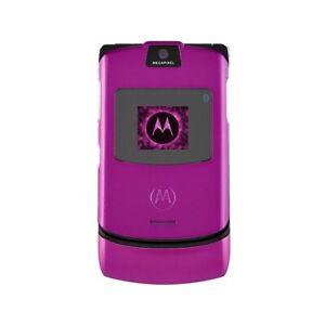 Téléphone Cellulaire Motorola V3 Razr Fuchsia Appareil Photo Bluetooth Qualité