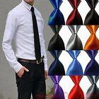 Hot! Solid Plain Classic 100%New Silk Jacquard Woven Necktie Men's Tie