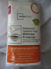 MAINSTAYS Waterproof Zippered Vinyl Mattress Protector Full