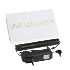 5mw 303 Green Laser Pen Adjustable Focus Burning Beam + 18650 Battery Charger