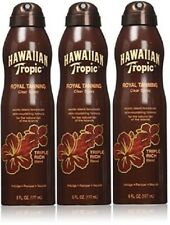 3 Pack Hawaiian Tropic Royal Tanning Clear Spray Triple Rich Blend Tan 6 Oz