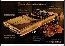 1964 Chrysler newport Convertible Gold Woman Rug 2 page Vintage Print Ad