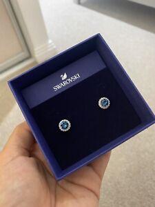 Swarovski Earrings Brand New Sapphire Blue