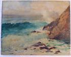 "Gustave Cimiotti Oil Painting 1875-1969 ""The Sea"" Laguna Beach California 1940s"