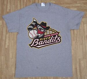 Majestic Quad City River Bandits Minor League Baseball 2-Button Mens Jersey T-Shirt 3X