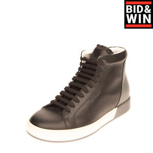 RRP €570 JIL SANDER Leather Sneakers Size 41 UK 7 US 8 Polished Made in Italy