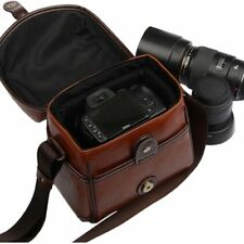 Camera Bag,FOME Vintage Look Britpop DSLR Camera Bag PU Leather for Canon Nikon