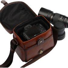 Cámara SLR Bolsa de Cámara, Look Vintage Fome D Bolsa britpop de cuero PU para Canon Nikon