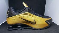 Nike Shox Mens Casual Running Shoes R4 (104265-702) Metallic Gold Black