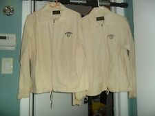 Vintage JACK DANIELS HIS & HERS Kaki Lounge Jackets Sz. Sm & Med