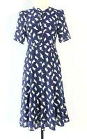 NEW L.K.Bennett Women's Blue Montana Silk Dress UK 8