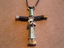 Carolina Panthers Handmade Disciples Cross Necklace with helmet charm