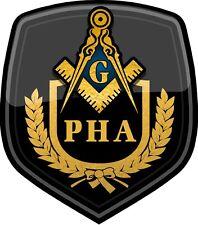 "ProSticker 105 (One) 4"" Prince Hall Masonic Decal Sticker PHA Freemason Lodge"