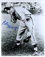 Pete Gray Psa/dna Signed 8x10 Photo Certed Autograph Authentic