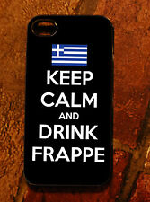 iPhone 4 case - Greek Flag Keep Calm Drink Frappe