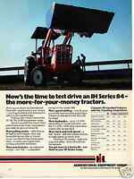 1979 International Harvester IH Series 84 Tractor Print Ad