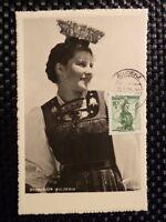 AUSTRIA MK 1950 TRACHTEN MAXIMUMKARTE COSTUMES CARTE MAXIMUM CARD MC CM a8484