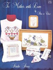 TO MOTHER WITH LOVE VINTAGE CROSS STITCH PATTERN BUTTERFLY, FLOWERS, HUMMINGBIRD