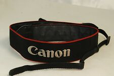 Canon EOS DIGITAL Wide Camera Shoulder Neck Strap Black and Red Stripes