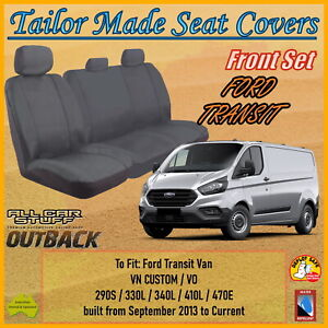 Canvas Seat Covers for Ford Transit Van VN Custom & VO: from 09/2013 to Current