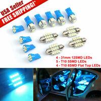 13x LED Light Car Interior 8000K for Dome License Plate Lamp 12V Kit Accessories