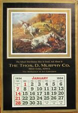 Pointer/Hunting Dog 1934 Advertising Calendar / 11x16 Poster: 'On a Point'