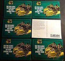 (6) 1996 VINTAGE SKI-DOO SNOWMOBILE FORMULA  UNUSED POST CARDS READ   (813)