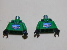 Lego 2 torses verts / 2 green torsos from minifig set 6573 6579 6570 6575