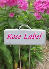 """Large METAL Garden Plant Marker Labels. {SET OF 25} 12"""" tall. Label is 3.5"""" x 1"""""""