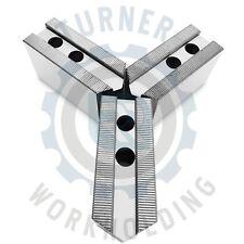 """8"""" 2"""" HT Kitagawa B208 Soft Steel Pointed CNC Lathe Chuck Jaw Set Samchully"""