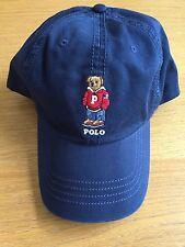 NWT MEN'S POLO RALPH LAUREN VARSITY POLO BEAR CAP BASEBALL HAT - NAVY