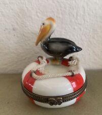 Vintage Figural Trinket Box Pelican