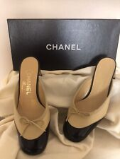 CHANEL LADIES HIGH HEELS SHOES SZ 36.5 ITA / 6.5 US MADE IN ITALY  AUTHENTIC