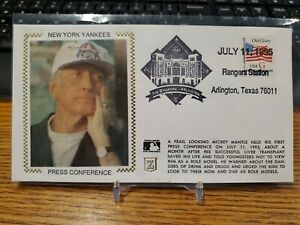 1995 Mickey Mantle Envelope Cache New York Yankees