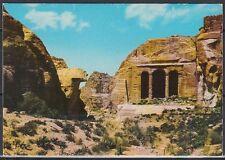 Jordanien Jordan used Post Card Postkarte Bauwerk building Petra [cm557]