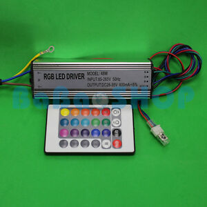 50W RGB Waterproof AC LED Driver Power Supply Lamp Light Bulb + Memory Function