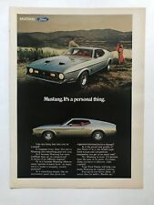 Ford Mustang Vintage 1971 Print Ad