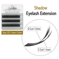 0.07 3D Russian Volume Shadow Eyelash Extension Double Curls CD 11-12mm 3 Lines