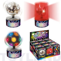 MINI SPINNING DISCO BALL RED MOTORISED LIGHT GADGET TOY KIDS PARTY BAG FILLER