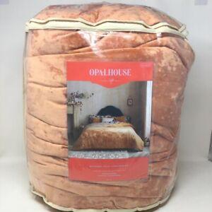 Rust Reversible Velvet Leopard Print Comforter & Sham Set - Opalhouse Full/Queen